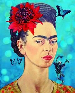 Frida Kahlo Kunstwerk : frida kahlo art print with waratah butterflies and dancing skeleton available from ~ Markanthonyermac.com Haus und Dekorationen