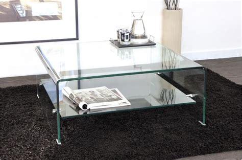 table basse carr 233 e en verre transparent otta table basse pas cher