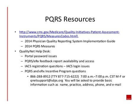 Medicare Qualitynet Help Desk by Physician Quality Reporting System Pqrs