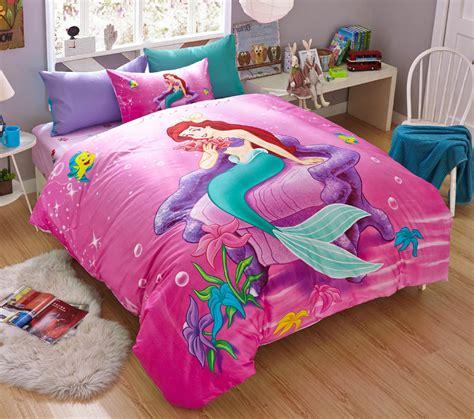new 2015 disney mermaid bedding set 4pc bed cotton ebay
