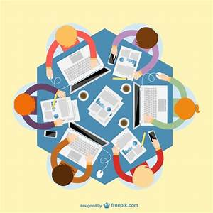 Business meeting top view Vector   Free Download
