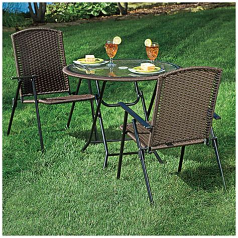 view wilson fisher 174 resin wicker 3 folding dining set deals at big lots