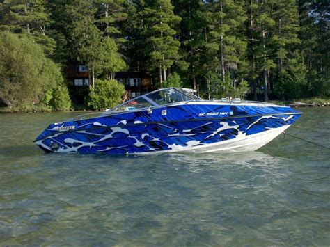 Camo Blow Up Boat by Blue Camouflage Total Covering On Little Boat Boat