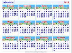 calendario2018 italian
