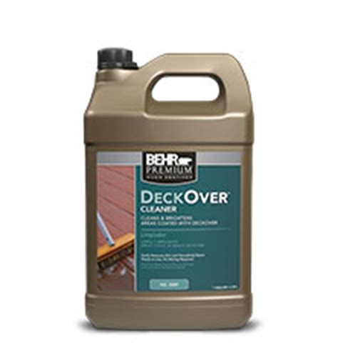 deckover cleaner wood stains behr paint