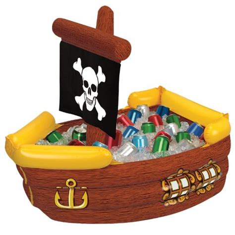 Blow Up Boat Toy by Inflatable Pirate Ship Cooler