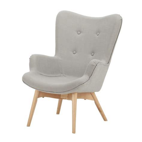 fauteuil vintage enfant en bois et tissu gris iceberg maisons du monde