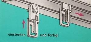Bilder Aufhängen Schiene : gardinengleiter universal klickfix gardinenhaken ~ Markanthonyermac.com Haus und Dekorationen