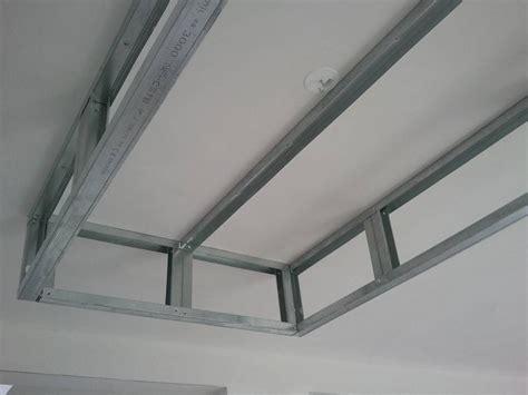 rail placo plafond chassis suspendu montant r45 m45 plafond escalier design