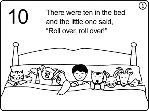Free Coloring Pages Of Ten In Bed