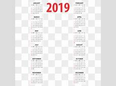 Calender 2019 PNG Images Vectors and PSD Files Free