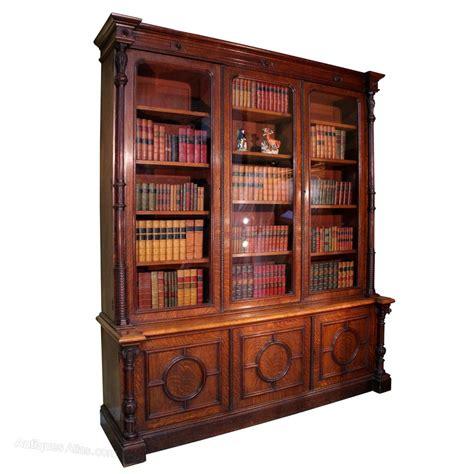 Antique Victorian Oak Library Bookcase  Antiques Atlas