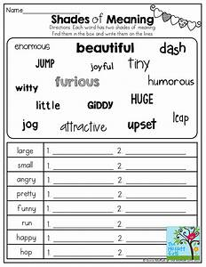 Shades of Meaning! TONS of other great printables! | 2nd ...