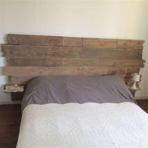 t 234 te de lit en bois vieilli teinte bois flott 233 de chez liberon avec ma touche perso un m 233 lange