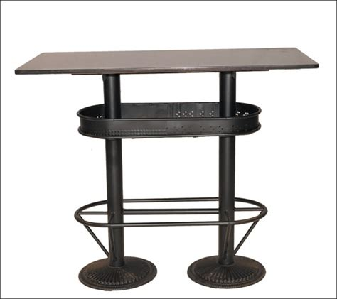 table haute industrielle mange debout loft pas chere et solide pour les bars bistrot idees