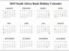 Get Editable Free Bank Holidays 2019 SA {South Africa