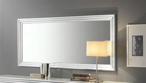 miroir silver laque blanc argent