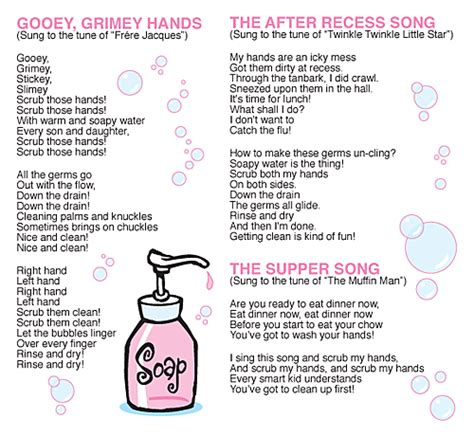 Wash Wash Wash Your Hands Song To Row Row Row Your Boat Lyrics by Hand Washing Can Be Fun Kid Scoop News