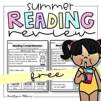 Free Reading Comprehension Passages  Summer Review By Kaitlynn Albani