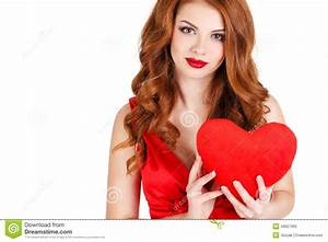 Beautiful Woman In The Day Of Love. Stock Image - Image of ...