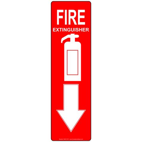 Fire Extinguisher Mounting Height Osha by Fire Extinguisher Sign Nhe 7475 Fire Safety Equipment