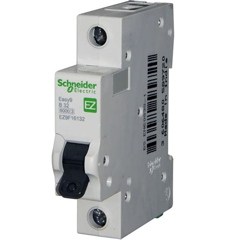 Schneider Easy 9 32 Amp Mcb Replaces The Domae Dom32b6