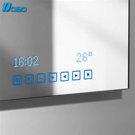 salle de bain intelligente miroir avec mp3 bluetooth radio horloge temp 233 rature mirroir