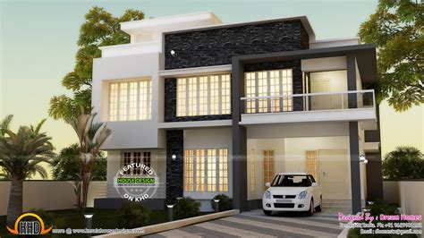 Simple Contemporary House And Plan  Kerala Home Design