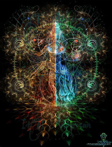nataraji impression sur toile awakening toile psychedelic and geometry