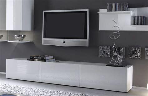 meuble tv design laqu 233 blanc madere 207 meubles t 233 l 233 et biblioth 232 ques meuble