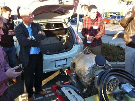 2012 nissan leaf gets unofficial jet powered range extender charger
