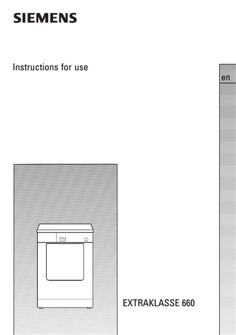 siemens extraklasse ta wt66080 mode d emploi notice d utilisation manuel utilisateur