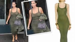 Kim Kardashian Green Dress   Faith Connexion Cotton Rib ...
