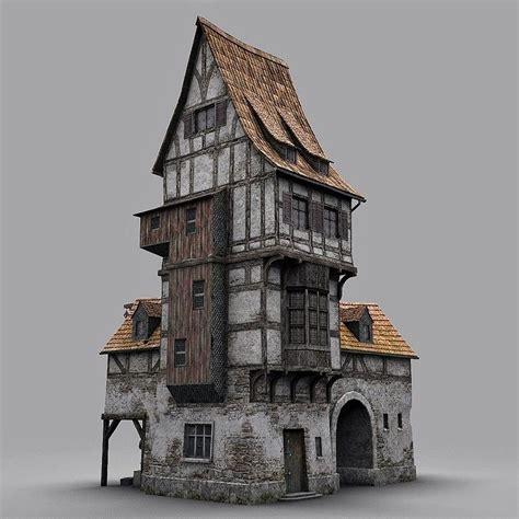 Fantasy Old Blacksmith House Obj Architecture