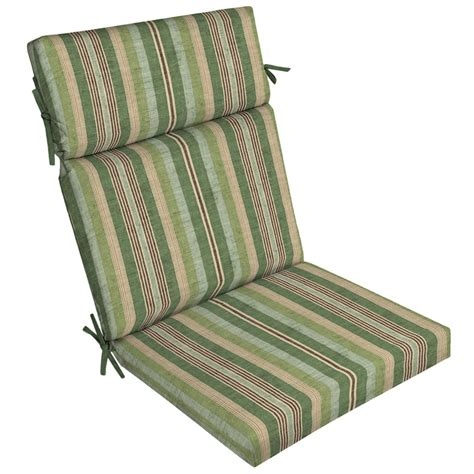 shop allen roth multi eucalyptus stripe high back patio chair cushion for high back chair at