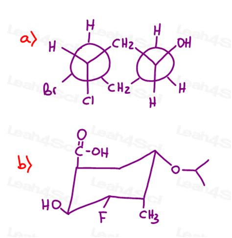 cyclohexane chair conformations organic chemistry practice