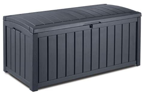keter 17198358 coffre 224 coussins glenwood box en plastique aspect boi