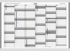 Kalender 2018 mit Feiertagen Download Freewarede