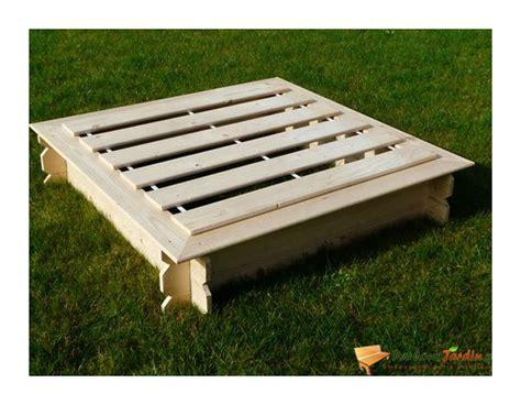 bac 224 carr 233 en bois julo avec couvercle sdsg935 jardin piscine