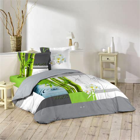 housse de couette grand lit 2 personnes 100 coton 260x240 cm ushuaia hanoi bambou