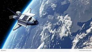 Space Shuttle Orbiting Earth Stock Animation | 8729917