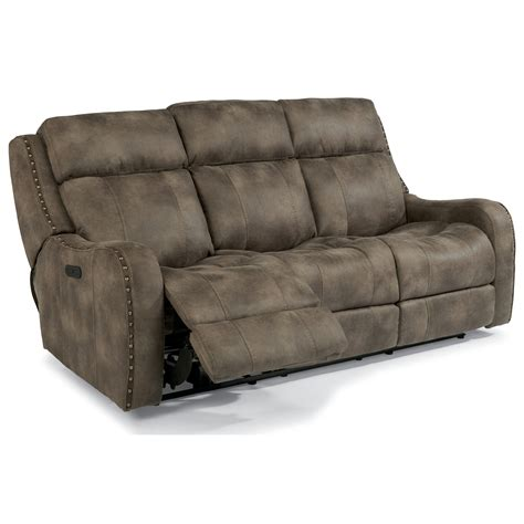 Flexsteel Latitudes Power Reclining Sofa by Flexsteel Latitudes Springfield Power Reclining Lay Flat