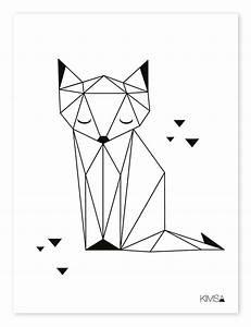 Tierbilder Schwarz Weiß : lilipinso kinderzimmer poster 39 origami fuchs 39 schwarz wei 30x40cm bei fantasyroom online kaufen ~ Markanthonyermac.com Haus und Dekorationen