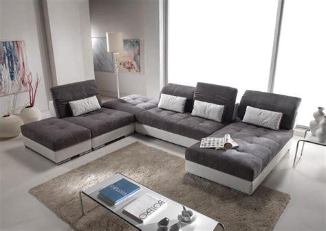 cuir center canap modulable meuble de salon contemporain