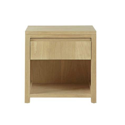 table de chevet avec tiroir en ch 234 ne massif l 40 cm danube maisons du monde