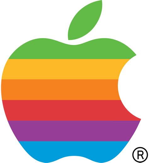 Fileapple Computer Logo Rainbowsvg  Wikimedia Commons