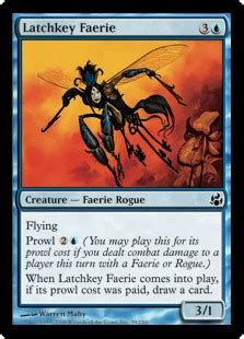 mono blue faerie customized modern deck mtg magic faeries aggro u ebay