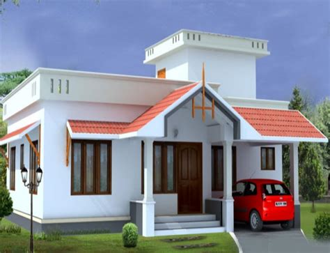 2 Bhk Home Interior Design Low Budget : 2 Bhk Low Budget Home Design At 1054 Sq Ft