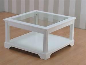 Tisch Weiß Holz : couchtisch charlot glas holz wohnzimmer tisch beistelltisch wei teilmassiv m bel wohnen tische ~ Markanthonyermac.com Haus und Dekorationen