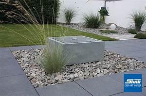 Wasserlauf Garten Modern : gartenbrunnen zink kubus tisch 60 x 60 x 60 cm kaufen zinkbrunnen ~ Markanthonyermac.com Haus und Dekorationen